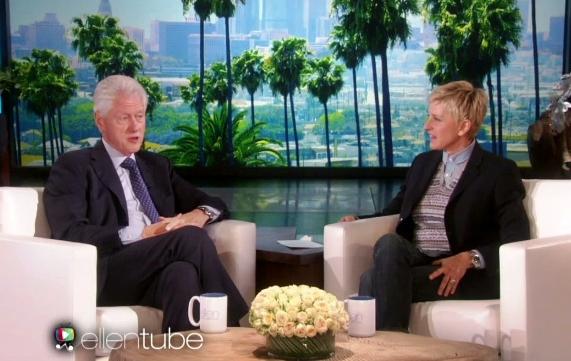 president bill clinton on ellen show