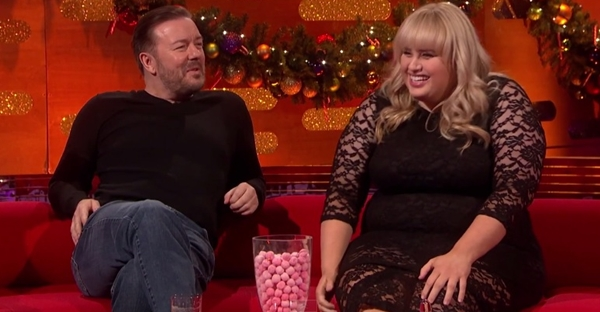 rebel wilson ricky gervais on graham norton rapping