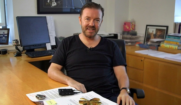 ricky gervais how he learned to write