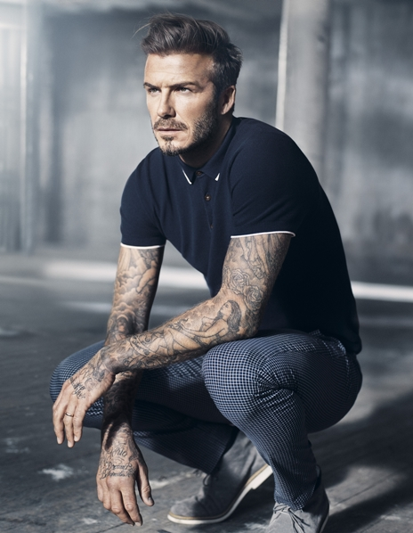 David Beckham in H&M