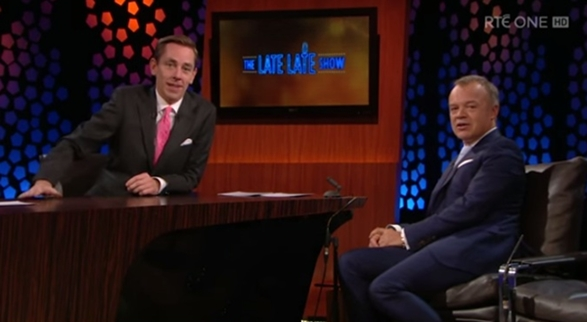 graham norton the late late show first tv appearance