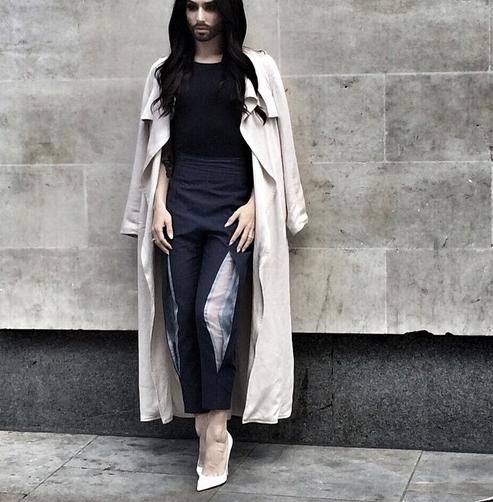 conchita wurst instagram trench coat