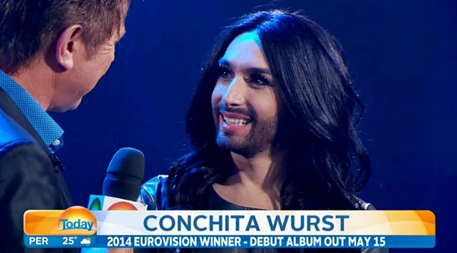 conchita wurst today show australia