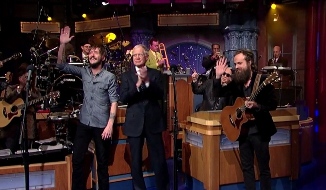 iron and wine and ben bridwell letterman