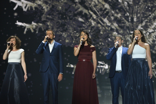 Boggie Hungary second rehearsal at Wiener Stadthalle Eurovision 2015