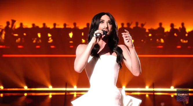 Conchita Wurst at semi final 1 Vienna Eurovision