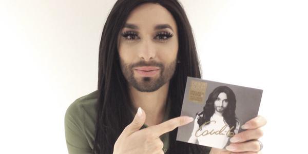 Conchita with her album