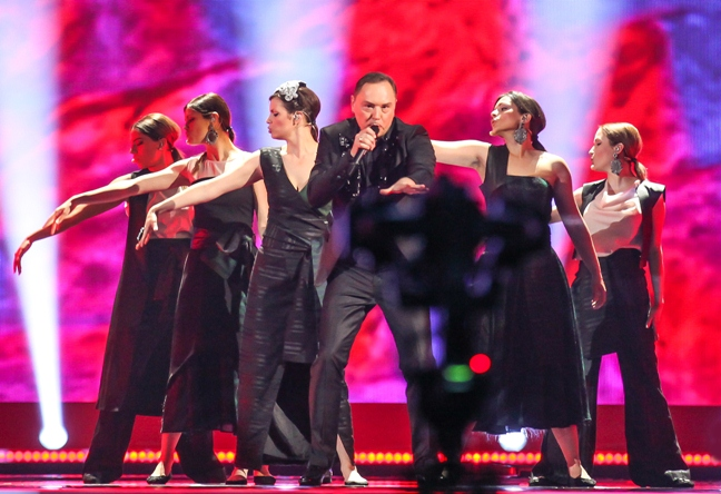 Knez Montenegro rehearsals Eurovision Vienna copyright EBU and Elena Volotova