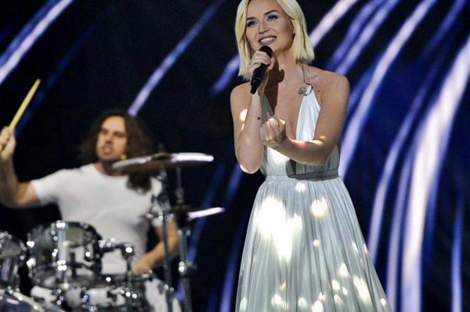 Polina Gagarina second rehearsal Eurovision 2015