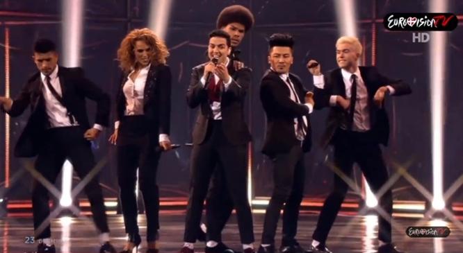 Basim Sings 'Cliché Love Song' at Eurovision 2014, So Fun: Countdown to Eurovision 2015