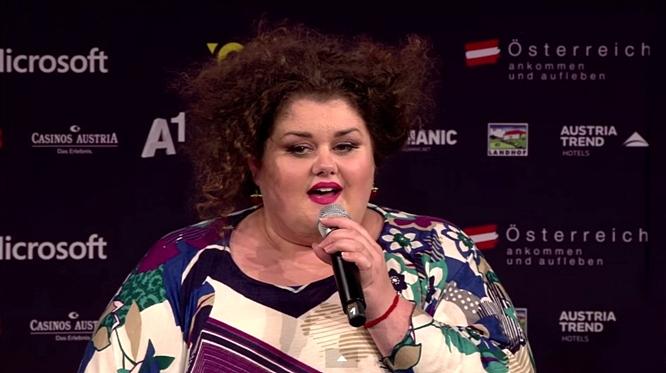 bojana stamenov press conference eurovision