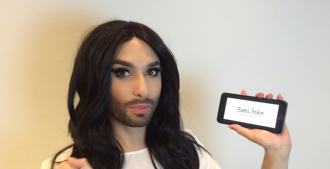 """Eurovision Hashflags Now on Twitter: Conchita Wurst Announces """"They're Live"""" (Video)"""