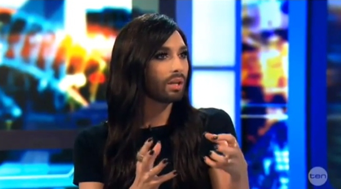 conchita wurst on The Project Australia
