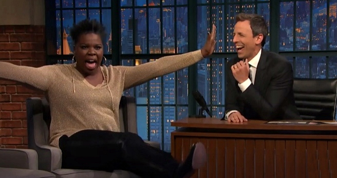leslie jones on twitter haters with seth meyers