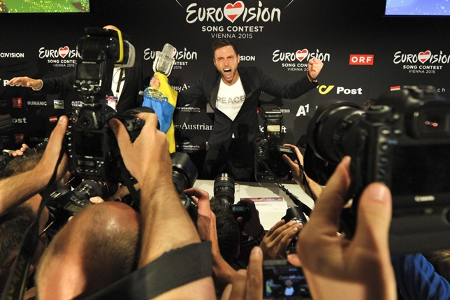 mans press conference eurovision