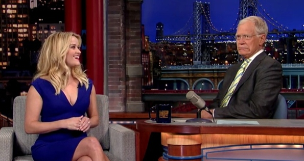 reese witherspoon david letterman blonde moment