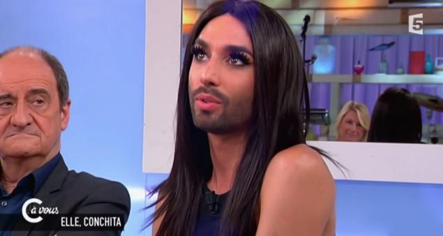 Conchita Wurst a Political Icon? On 'C à vous' in Paris (Videos)