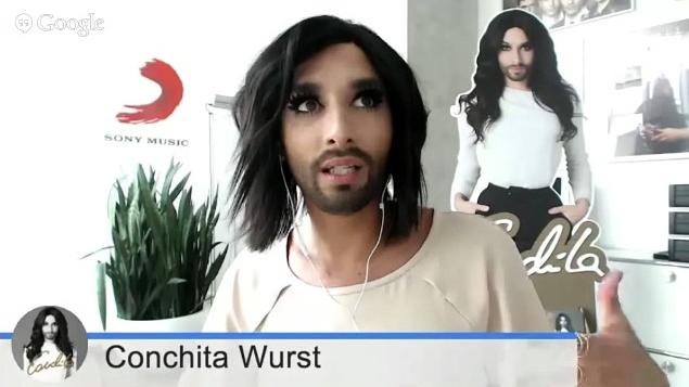conchita wurst google hangout