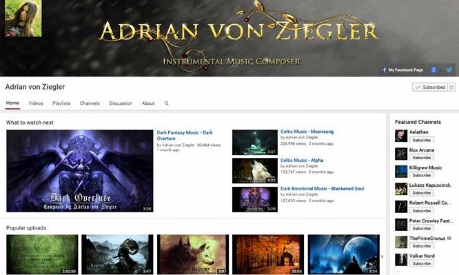 fantasy music adrian von ziegler