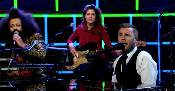 gary barlow something about this night james corden late late show