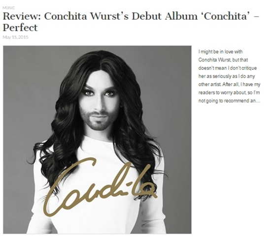 conchita wurst debut album conchita review
