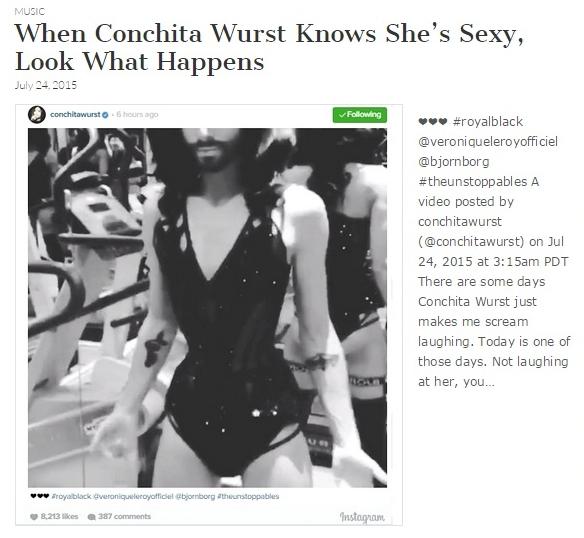 conchita wurst sexy