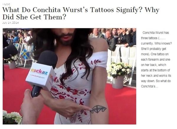 conchita wurst tattoos