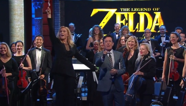 Legend of Zelda Orchestra Stephen Colbert