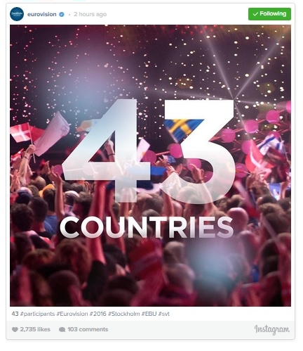 How Many Countries are Participating in Eurovision 2016?