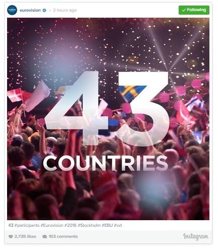 instagram eurovision