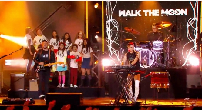 walk the moon different colors on jimmy kimmel