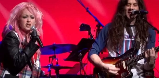 cyndi lauper and kurt vile money changes everything home for the holidays