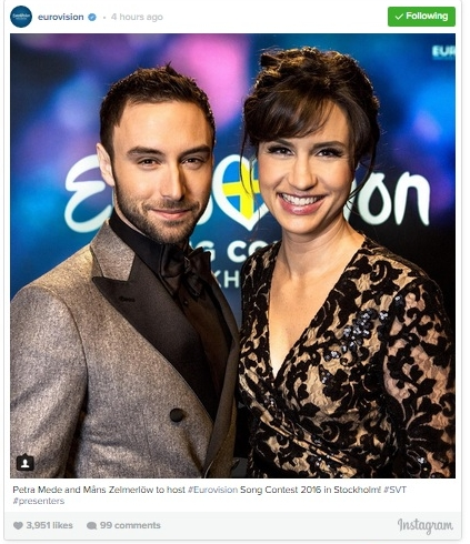 Petra Mede and Måns Zelmerlöw Will Host Eurovision 2016 – Should Be a Great Show