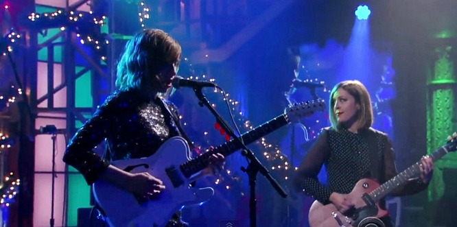 sleater kinney bury your friends stephen colbert live