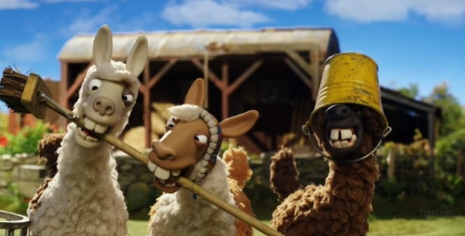 the farmer's llamas shaun the sheep bbc one