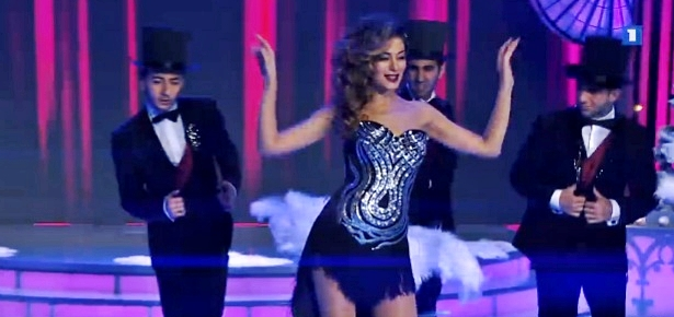 Armenia's Iveta Mukuchyan's Sings 'Diamonds Are a Girl's Best Friend' on AMPTV's New Year's Eve Show