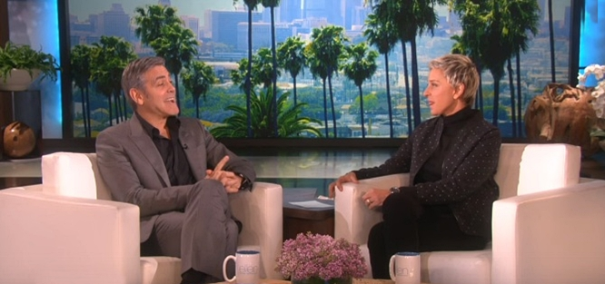 george clooney on the ellen show