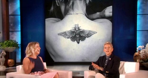 kaley cuoco's new tattoo moth