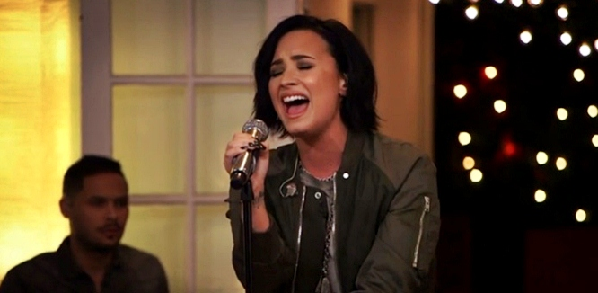 demi lovato stone cold james corden live natalie's house