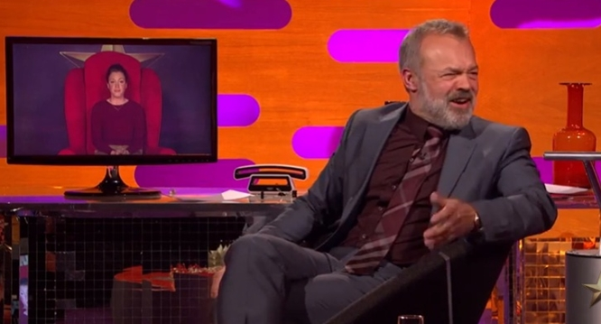 graham norton red chair pull the lever