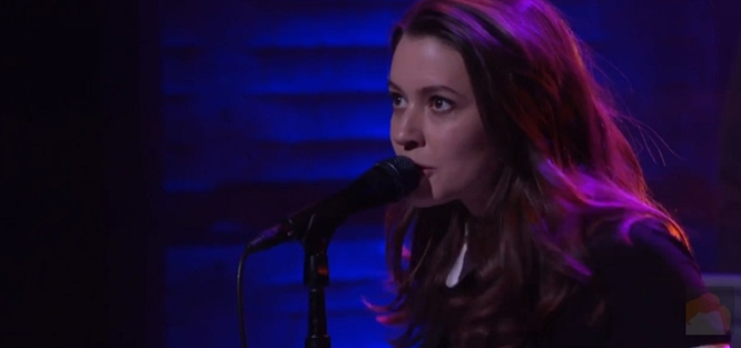 meg myers on conan with motel