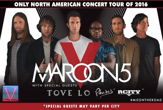Maroon 5 Tove Lo concert tour