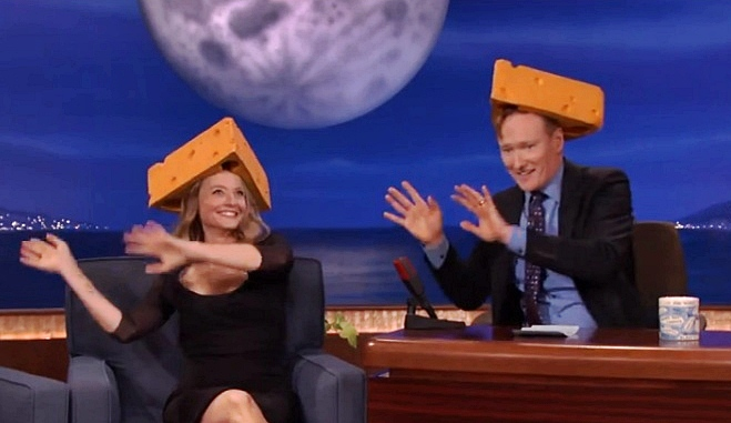 jodie foster in a cheese head