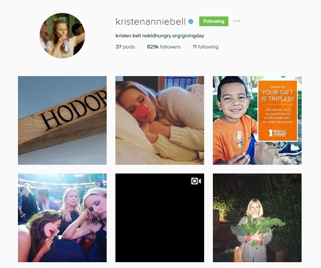 kristen bell on instagram