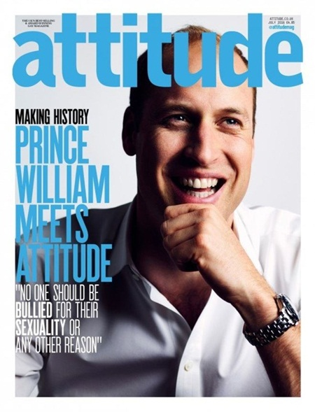 Prince William First Ever Member of Royal Family To Appear on Cover of Gay Magazine — Good Lad!