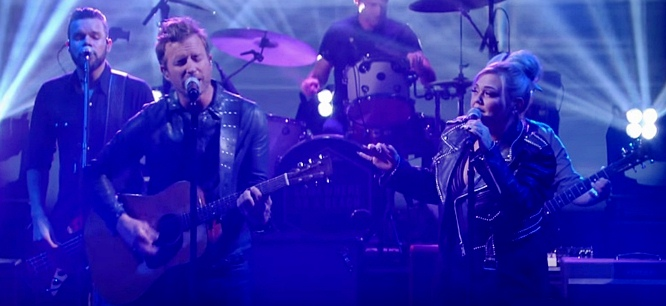 elle king and dierks bentley on stephen colbert different for girls