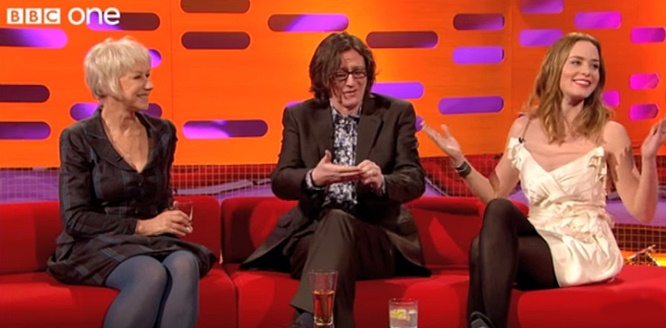 Helen Mirren and Emily Blunt on Being Naked on Graham Norton — Memories Monday