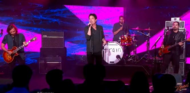 train perform heartbreaker on jimmy kimmel live