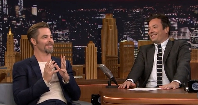 chris pine jeff bridges laugh jimmy fallon