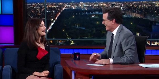 Stephen Colbert Has a Huge Crush on Rachel Weisz -- No Surprise, She's Stunning (Video)